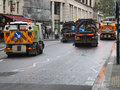 City of london street sweepers clearing after parade Royalty Free Stock Photos