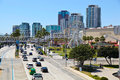 City of long beach panorama california Stock Photo
