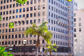 City of Los Angeles, Downtown District with high-rise buildings Royalty Free Stock Photo