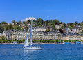 City of Lucerne in Switzerland in springtime