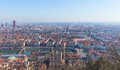 City of Lyon, France at sunny winter day Royalty Free Stock Photo