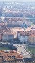 City of Lyon, France, view on big wheel Royalty Free Stock Photo