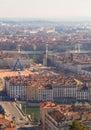 City of Lyon view on big wheel Royalty Free Stock Photo