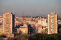 City of madrid cityscape block flats and apartment buildings in the spain Royalty Free Stock Photos