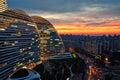 Peking západ slnka