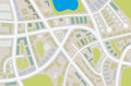 City map abstract illustration of a with details Stock Photography