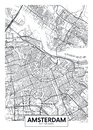 City map Amsterdam, travel vector poster design Royalty Free Stock Photo