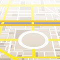 City map generic without names Royalty Free Stock Image