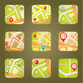 City map with gps icons vector gradient eps Stock Image