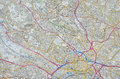 City map of Leeds Royalty Free Stock Photo