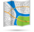 City map of with river and park eps Royalty Free Stock Image