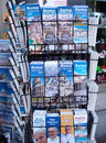 City maps and postcards stand in rome italy photograph taken on may Stock Image