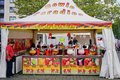 stock image of  City Market Stall selling colorful Fruit & Alcohol Drinks