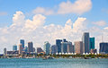 City of Miami Florida, summer panorama of downtown buildings Royalty Free Stock Photo