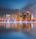 City of Miami Florida sunset Royalty Free Stock Images