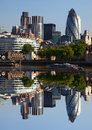 City of modern london uk with cruise england Stock Photography