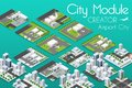 City module creator Royalty Free Stock Photo