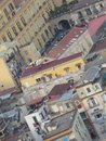 The city of Naples from above. Napoli. Italy. Vesuvio volcano behind. Royalty Free Stock Photo