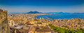 City of Naples with Mt. Vesuvius at sunset, Campania, Italy Royalty Free Stock Photo