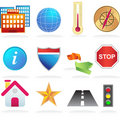 City Navigation Icons Royalty Free Stock Photography