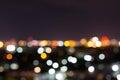 City night with dark sky, abstract blur bokeh light Royalty Free Stock Photo