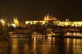 City at night. Europe. Prague. Stock Images