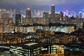 City at night, Hong Kong Stock Image