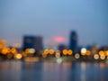 City night lights blurred bokeh background. Royalty Free Stock Photo