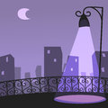 City night scene image graphic style of in simple shape Royalty Free Stock Photos