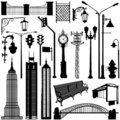 City objects vector Royalty Free Stock Photography