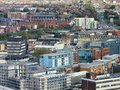 City with old architecture in liverpool Royalty Free Stock Photo
