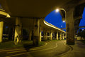 City overpass at night located in chengdu china Stock Photography