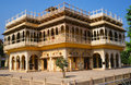 City palace in jaipur rajasthan india side view of the mubarak mahal Stock Images
