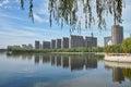 City park the landscape of longtan prak in taiyuan shanxi china Stock Photos