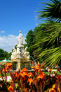 City park in Nimes France Stock Photography
