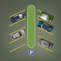 City parking image Royalty Free Stock Photo
