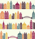 Royalty Free Stock Photography City pattern