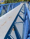 City Pedestrian Footbridge Royalty Free Stock Photo