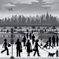 City People on the Move Royalty Free Stock Images