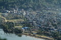 The city pokhara in nepal Stock Image
