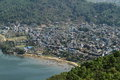 The city pokhara in nepal Royalty Free Stock Photography