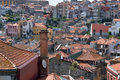 City of Porto, Portugal. Old city tiled roofs and urban sprawl Royalty Free Stock Photo