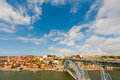 City of porto view to historic center portugal Royalty Free Stock Image