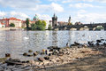 City of prague and the charles bridge czech republic europe in summer Stock Photo