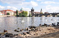 City of prague and the charles bridge czech republic europe vltava river Stock Photography