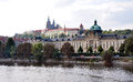 City of prague and st vitus cathedral czech republic europe river vltava Royalty Free Stock Photo