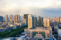 City after rain the scenery of taiyuan in shanxi china thunder shower Stock Photo