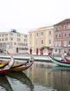 City reflections in the river,Aveiro Portugal Royalty Free Stock Photo