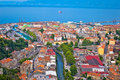 City of Rijeka aerial view Royalty Free Stock Photo