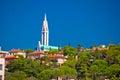 City of Rijeka hill church view Royalty Free Stock Photo